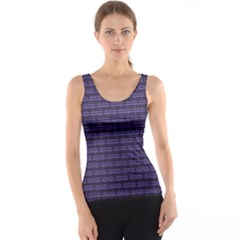 Color Of The Year 2018   Ultraviolet   Art Deco Black Edition Tank Top