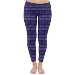 Color Of The Year 2018   Ultraviolet   Art Deco Black Edition Classic Winter Leggings