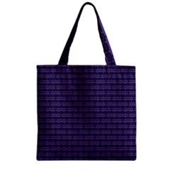 Color Of The Year 2018   Ultraviolet   Art Deco Black Edition Zipper Grocery Tote Bag