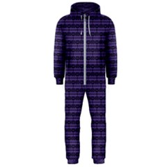Color Of The Year 2018   Ultraviolet   Art Deco Black Edition Hooded Jumpsuit (men)
