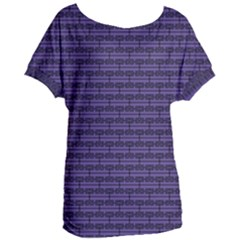 Color Of The Year 2018   Ultraviolet   Art Deco Black Edition Women s Oversized Tee