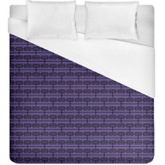 Color Of The Year 2018   Ultraviolet   Art Deco Black Edition Duvet Cover (king Size)