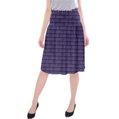 Color Of The Year 2018   Ultraviolet   Art Deco Black Edition Midi Beach Skirt
