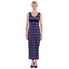 Color Of The Year 2018   Ultraviolet   Art Deco Black Edition Fitted Maxi Dress