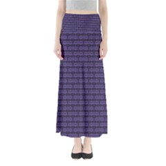 Color Of The Year 2018   Ultraviolet   Art Deco Black Edition Full Length Maxi Skirt
