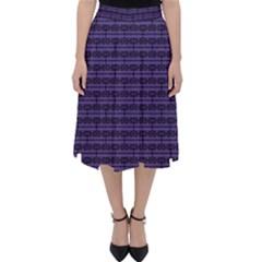 Color Of The Year 2018   Ultraviolet   Art Deco Black Edition Folding Skater Skirt