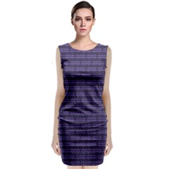 Color Of The Year 2018   Ultraviolet   Art Deco Black Edition Classic Sleeveless Midi Dress