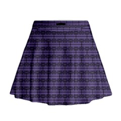 Color Of The Year 2018   Ultraviolet   Art Deco Black Edition Mini Flare Skirt