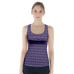 Color Of The Year 2018   Ultraviolet   Art Deco Black Edition Racer Back Sports Top