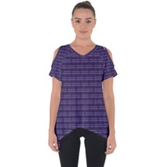 Color Of The Year 2018   Ultraviolet   Art Deco Black Edition Cut Out Side Drop Tee