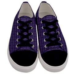 Color Of The Year 2018   Ultraviolet   Art Deco Black Edition Men s Low Top Canvas Sneakers