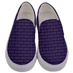 Color Of The Year 2018   Ultraviolet   Art Deco Black Edition Men s Canvas Slip Ons