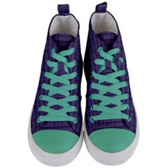 Color Of The Year 2018   Ultraviolet   Art Deco Black Edition Women s Mid Top Canvas Sneakers