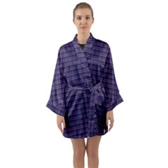 Color Of The Year 2018   Ultraviolet   Art Deco Black Edition Long Sleeve Kimono Robe