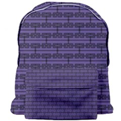 Color Of The Year 2018   Ultraviolet   Art Deco Black Edition Giant Full Print Backpack