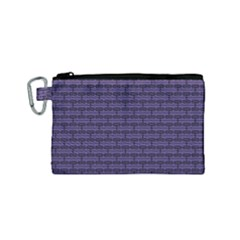 Color Of The Year 2018   Ultraviolet   Art Deco Black Edition Canvas Cosmetic Bag (small)