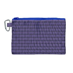 Color Of The Year 2018   Ultraviolet   Art Deco Black Edition Canvas Cosmetic Bag (large)