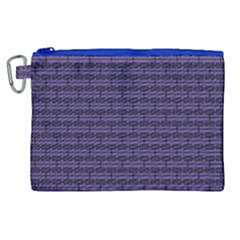Color Of The Year 2018   Ultraviolet   Art Deco Black Edition Canvas Cosmetic Bag (xl)