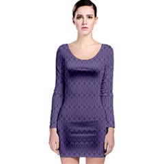 Color Of The Year 2018   Ultraviolet   Art Deco Black Edition 10 Long Sleeve Bodycon Dress