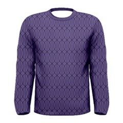 Color Of The Year 2018   Ultraviolet   Art Deco Black Edition 10 Men s Long Sleeve Tee