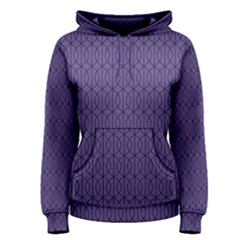 Color Of The Year 2018   Ultraviolet   Art Deco Black Edition 10 Women s Pullover Hoodie