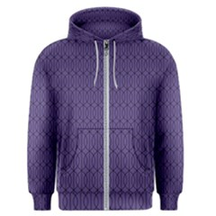 Color Of The Year 2018   Ultraviolet   Art Deco Black Edition 10 Men s Zipper Hoodie