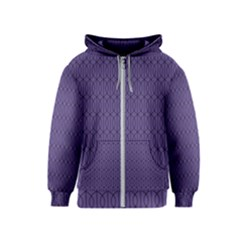 Color Of The Year 2018   Ultraviolet   Art Deco Black Edition 10 Kids  Zipper Hoodie
