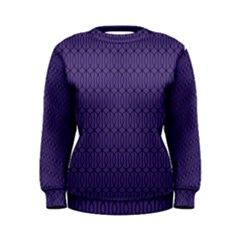 Color Of The Year 2018   Ultraviolet   Art Deco Black Edition 10 Women s Sweatshirt