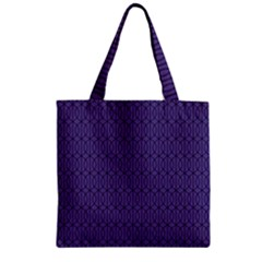 Color Of The Year 2018   Ultraviolet   Art Deco Black Edition 10 Zipper Grocery Tote Bag