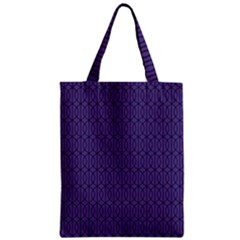 Color Of The Year 2018   Ultraviolet   Art Deco Black Edition 10 Zipper Classic Tote Bag