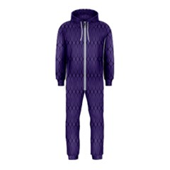 Color Of The Year 2018   Ultraviolet   Art Deco Black Edition 10 Hooded Jumpsuit (kids)