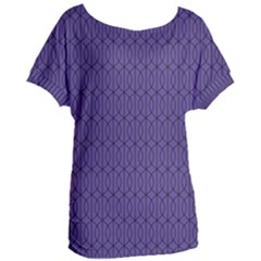 Color Of The Year 2018   Ultraviolet   Art Deco Black Edition 10 Women s Oversized Tee