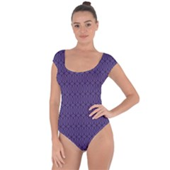 Color Of The Year 2018   Ultraviolet   Art Deco Black Edition 10 Short Sleeve Leotard