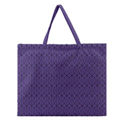 Color Of The Year 2018   Ultraviolet   Art Deco Black Edition 10 Zipper Large Tote Bag
