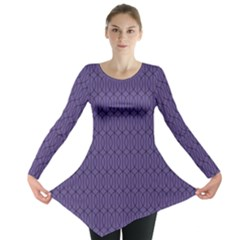 Color Of The Year 2018   Ultraviolet   Art Deco Black Edition 10 Long Sleeve Tunic
