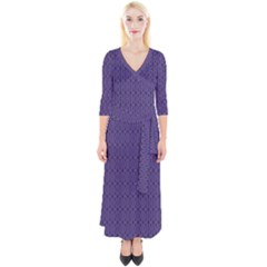 Color Of The Year 2018   Ultraviolet   Art Deco Black Edition 10 Quarter Sleeve Wrap Maxi Dress