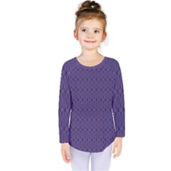 Color Of The Year 2018   Ultraviolet   Art Deco Black Edition 10 Kids  Long Sleeve Tee