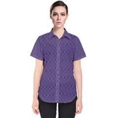 Color Of The Year 2018   Ultraviolet   Art Deco Black Edition 10 Women s Short Sleeve Shirt