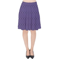 Color Of The Year 2018   Ultraviolet   Art Deco Black Edition 10 Velvet High Waist Skirt