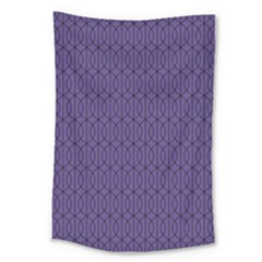 Color Of The Year 2018   Ultraviolet   Art Deco Black Edition 10 Large Tapestry