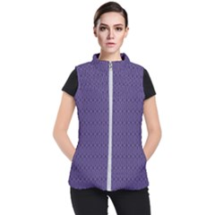 Color Of The Year 2018   Ultraviolet   Art Deco Black Edition 10 Women s Puffer Vest