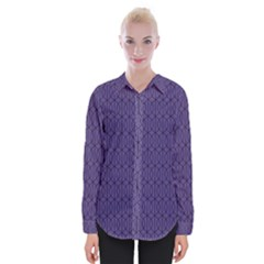 Color Of The Year 2018   Ultraviolet   Art Deco Black Edition 10 Womens Long Sleeve Shirt