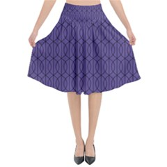 Color Of The Year 2018   Ultraviolet   Art Deco Black Edition 10 Flared Midi Skirt