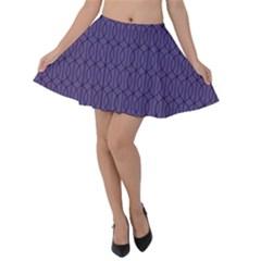 Color Of The Year 2018   Ultraviolet   Art Deco Black Edition 10 Velvet Skater Skirt