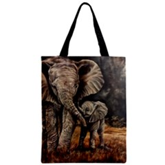 Elephant Mother And Baby Classic Tote Bag