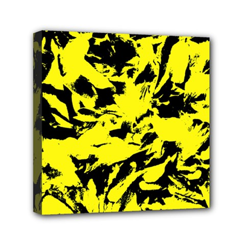 Yellow Black Abstract Military Camouflage Canvas Travel Bag