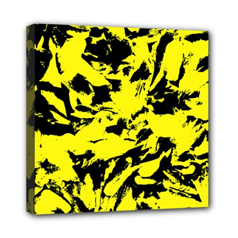 Yellow Black Abstract Military Camouflage Multi Function Bag