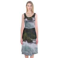 Sightseeing At Niagara Falls Midi Sleeveless Dress