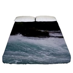 Sightseeing At Niagara Falls Fitted Sheet (queen Size)