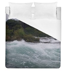 Sightseeing At Niagara Falls Duvet Cover (queen Size)